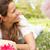 moeder · vergadering · veld · zomerbloemen · familie · meisje - stockfoto © monkey_business
