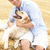 человека · сидят · собака · соломы · области · лет - Сток-фото © monkey_business