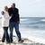 casal · de · idosos · caminhada · praia · juntos · mulher · mulheres - foto stock © monkey_business