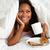 kobieta · śniadanie · bed · żywności · jabłko - zdjęcia stock © monkey_business