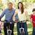 familie · kinderen · fietsen · buitenshuis · glimlachend · man - stockfoto © monkey_business