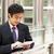 ビジネスマン · 作業 · 屋外 · 背面図 · 白人 - ストックフォト © monkey_business