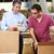werknemers · magazijn · goederen · man · vak · mannen - stockfoto © monkey_business
