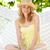 mulher · relaxante · praia · maca · areia · seis - foto stock © monkey_business