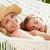 mãe · filha · relaxante · praia · maca · menina - foto stock © monkey_business
