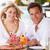 casal · de · idosos · refeição · ao · ar · livre · restaurante · vinho - foto stock © monkey_business