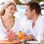 paar · genieten · laat · maaltijd · outdoor · restaurant - stockfoto © monkey_business