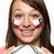young female football fan with chilean flag painted on face stock photo © monkey_business