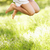 close up of young girl jumping in summer field stock photo © monkey_business
