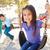 nino · nina · jugando · swing · parque · nino - foto stock © monkey_business