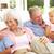 retrato · avós · netos · relaxante · juntos · sofá - foto stock © monkey_business