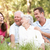 couple · de · personnes · âgées · augmenté · up · enfants · parc · homme - photo stock © monkey_business