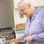 idősebb · nő · tapsolás · zöldségek · idős · élet - stock fotó © monkey_business