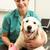 female veterinary surgeon treating dog in surgery stock photo © monkey_business