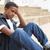 infelice · maschio · adolescente · studente · seduta · fuori - foto d'archivio © monkey_business
