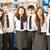 portré · csoport · tini · diákok · könyvtár · lány - stock fotó © monkey_business