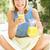 senior woman enjoying glass of orange juice stock photo © monkey_business