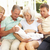 extended family relaxing together on sofa with newborn baby stock photo © monkey_business