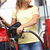 detail of female motorist filling car with diesel at petrol stat stock photo © monkey_business