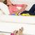 исчерпанный · женщину · расслабляющая · диван · зрелый - Сток-фото © monkey_business