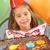 jong · meisje · partij · vergadering · tabel · voedsel · glimlachend - stockfoto © monkey_business