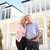 couple · de · personnes · âgées · permanent · à · l'extérieur · rêve · maison · maison - photo stock © monkey_business