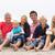 retrato · três · geração · família · férias · na · praia · mulher - foto stock © monkey_business
