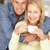 mid age couple with coffee at home stock photo © monkey_business