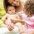 zomer · jurk · vergadering · veld · familie - stockfoto © monkey_business