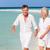 senior · romântico · casal · caminhada · belo · praia · tropical - foto stock © monkey_business