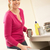 женщину · отходов · домой · счастливым · человек · улыбаясь - Сток-фото © monkey_business