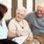 idős · férfi · beszél · egészség · látogató · otthon - stock fotó © monkey_business