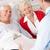 couple · de · personnes · âgées · parler · médecin · médicaux · couple · soutien - photo stock © monkey_business