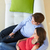 expectante · casal · relaxante · casa · juntos · mulheres - foto stock © monkey_business