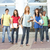 Group Of Teenage Students Standing Outside College Building stock photo © monkey_business