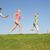 jeunes · famille · parents · enfants · courir · domaine - photo stock © monkey_business