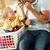figlio · di · padre · lavanderia · seduta · contatore · di · cucina · famiglia · felice - foto d'archivio © monkey_business