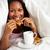 uśmiechnięty · kobieta · relaks · śniadanie · bed - zdjęcia stock © monkey_business