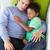 vader · kinderen · ontspannen · sofa · liefde - stockfoto © monkey_business