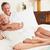 casal · de · idosos · relaxante · quarto · de · hotel · hotel · retrato - foto stock © monkey_business