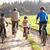 отец · детей · верховая · езда · велосипедах · счастливым - Сток-фото © monkey_business