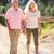 starszy · para · kraju · chodzić · wnuki · kobieta · rodziny - zdjęcia stock © monkey_business