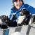 mannelijke · skiër · vergadering · sneeuw · vallen · gelukkig - stockfoto © monkey_business