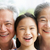 head and shoulders portrait of chinese grandparents with grandda stock photo © monkey_business