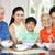 портрет · китайский · семьи · еды · еды · вместе - Сток-фото © monkey_business