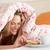 pretty · woman · relaks · bed · jedzenie · śniadanie · kobieta - zdjęcia stock © monkey_business