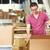 werknemer · magazijn · goederen · vak · mannen · fabriek - stockfoto © monkey_business