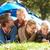 jovem · pai · crianças · tenda · família · cão - foto stock © monkey_business