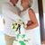 senior beach wedding ceremony with cake in foreground stock photo © monkey_business