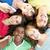 multicultural · adolescentes · parque · retrato · em · pé · sessão - foto stock © monkey_business